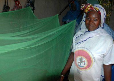 Distribution de moustiquaires imprégnées
